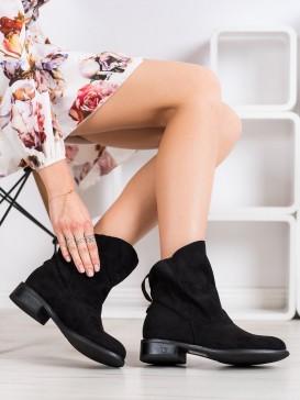 Čierne topánky s rozšíreným zvrškom
