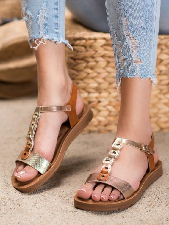 Módne sandálky z eko kože