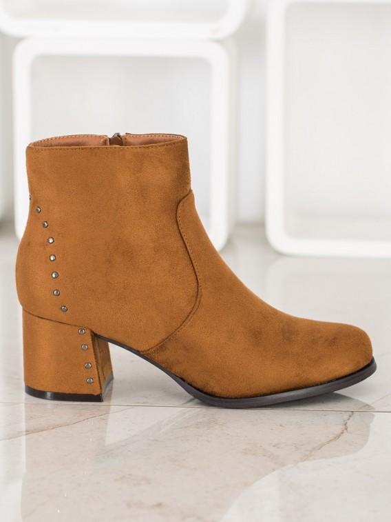Hnedé členkové topánky