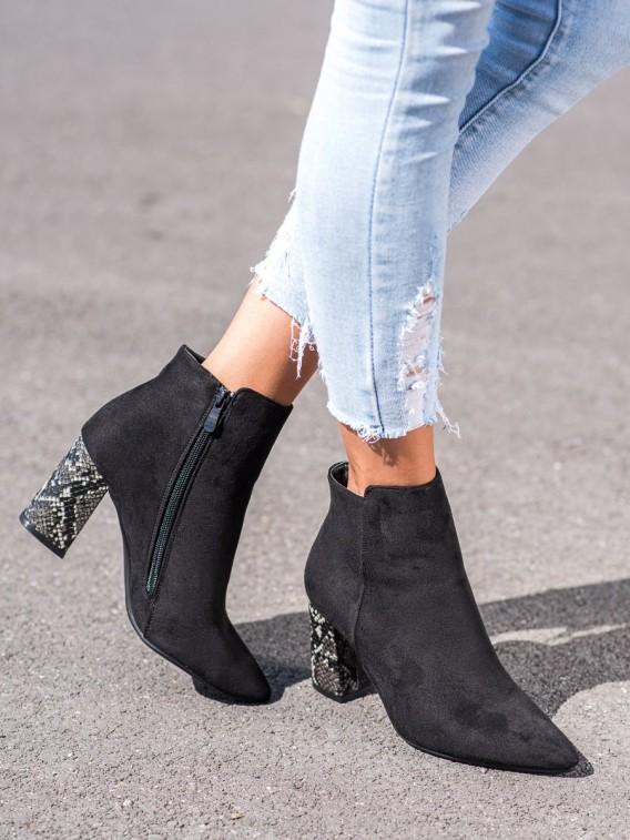 Členkové topánky s hadím vzorom