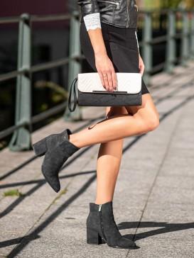 Čierne členkové topánky
