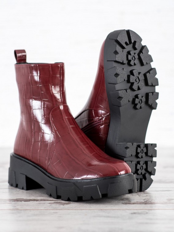 Členkové topánky na platforme