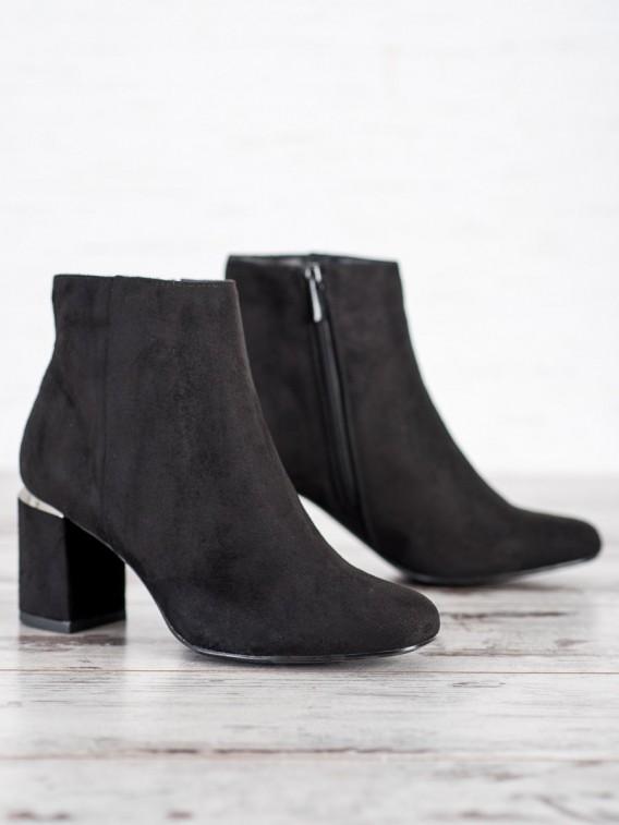 Štýlové semišové členkové topánky