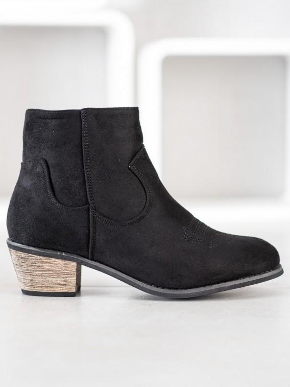 Čierne členkové topánky na jar