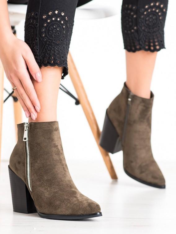 Členkové topánky s ozdobným zipsom