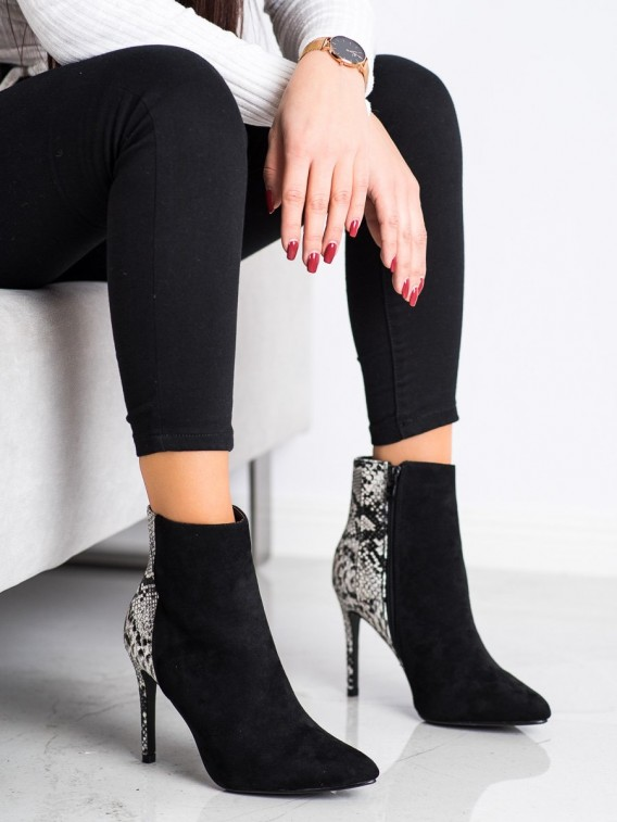 Sexy členkové topánky s hadím vzorom