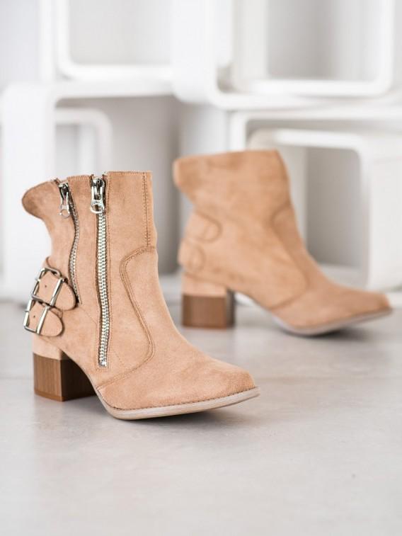 Béžové členkové topánky Fashion