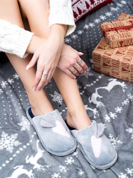 Zateplené papuče s motívom