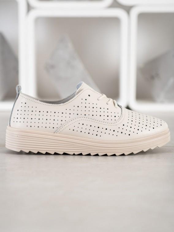 Dierkované kožené topánky