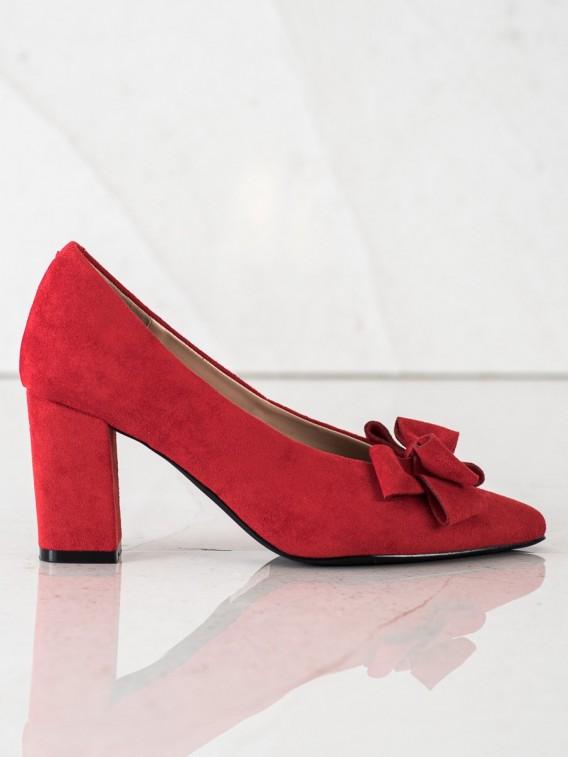 Červené lodičky s mašľou Vicneza