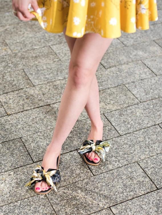 Elegantné šľapky s ozdobnou mašľou