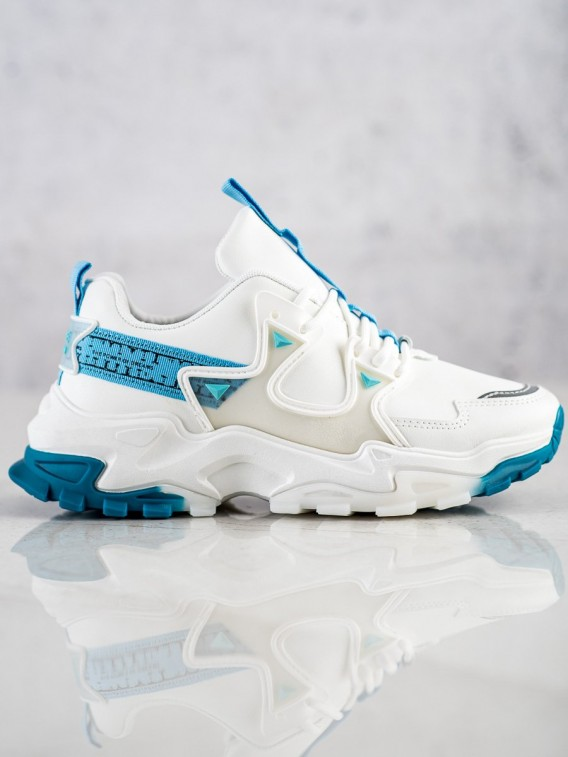Sneakersy so svetlo modrými detailami Fashion