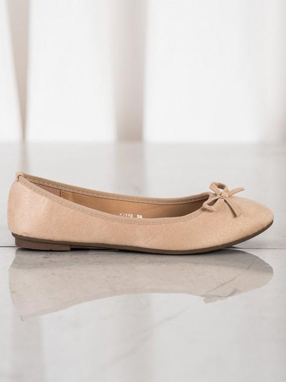 Klasické baleríny zo semišu