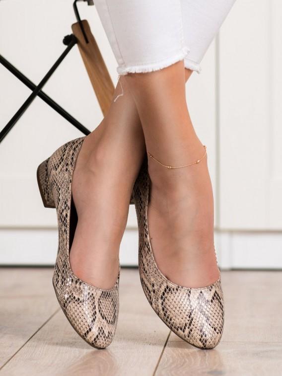 Lodičky s hadím vzorom Sergio Leone