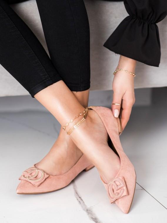 Elegantné baleríny s ozdobou