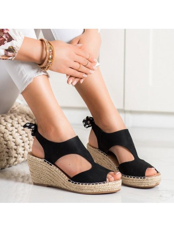 Sandálky espadrilky s mašľou