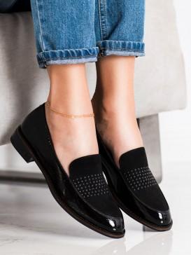 Elegantné čierne poltopánky Sergio Leone