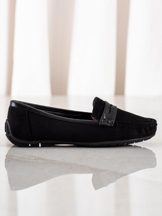 Komfortné čierne mokasíny