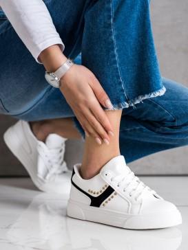 Neformálne biele topánky športové