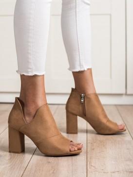 Jarné členkové topánky s otvorenou špičkou