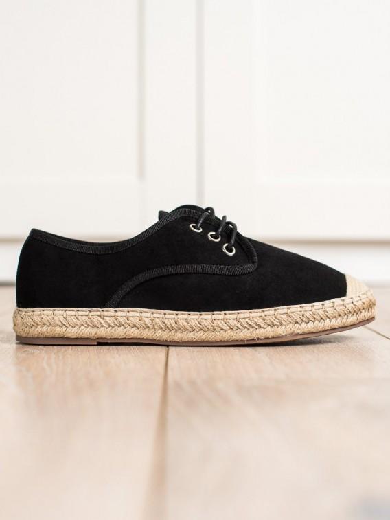 Čierne tenisky espadrilky