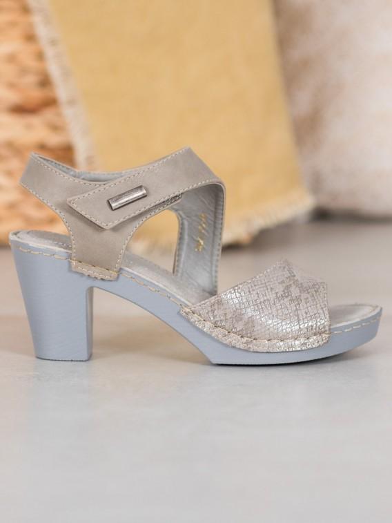 Sandále šedé