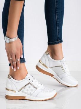 Biele sneakersy z kože