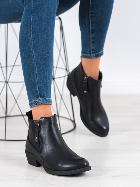 Zateplené členkové topánky na zips