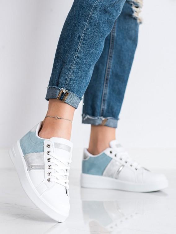 Topánky športové so semišovou vložkou