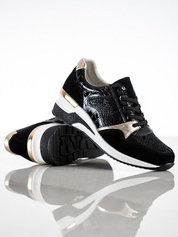 Viazané sneakersy z kože