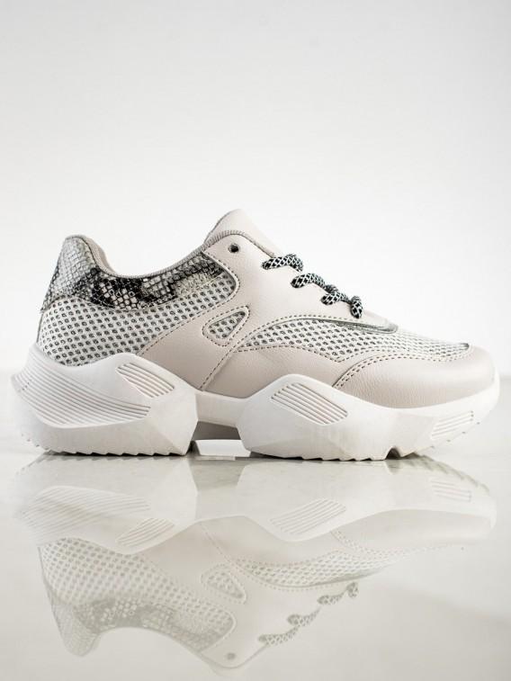 Šedé sneakersy s hadím vzorom