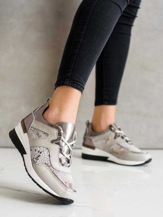 Kožené sneakersy s hadím vzorom