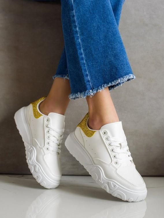 Biele sneakersy z eko kože