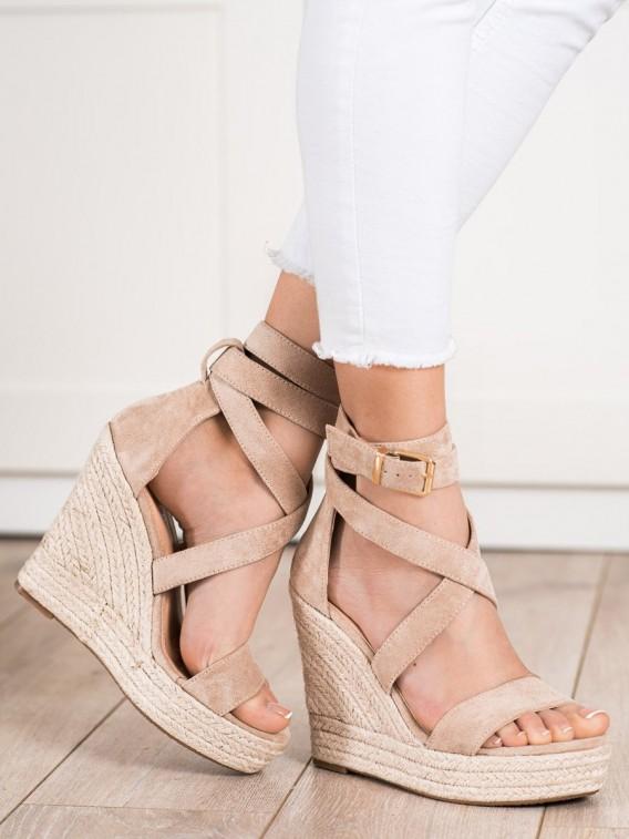 Sandálky espadrilky s prackou na zapínanie