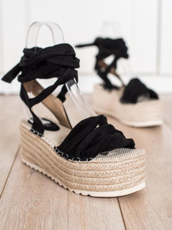 Viazané sandálky espadrilky