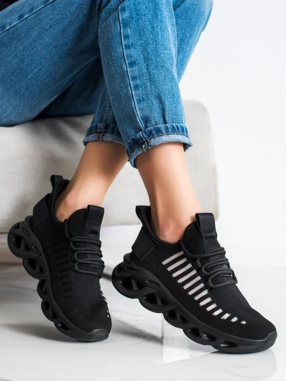 Čierne sneakersy Fashion