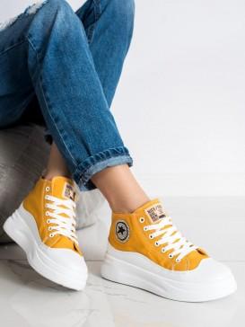 Vysoké žlté tenisky