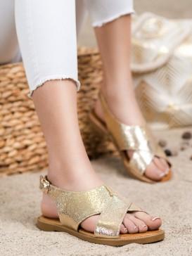 Klasické žlté sandálky
