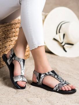Nazúvacie sandálky s hadím vzorom