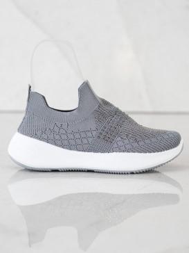 Šedé sneakersy s kryštálmi