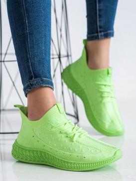 Zelené textilné sneakersy