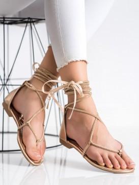 Viazané sandálky so zirkónmi