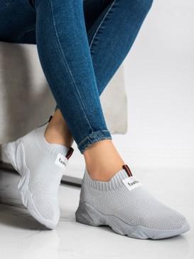Šedé nazúvacie sneakersy Fashion