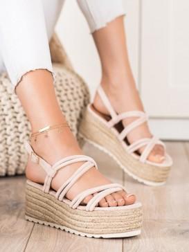 Sandále espadrilky na hrubej podrážke