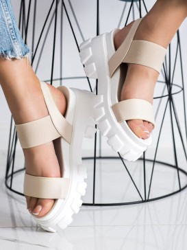 Béžové sandálky na platforme Fashion