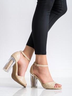 Sandále s priehladným podpätkom