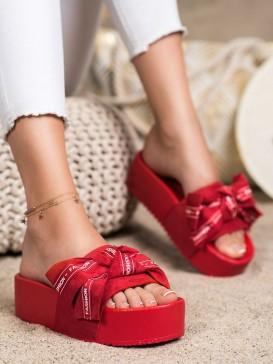 Šľapky s mašľou Fashion