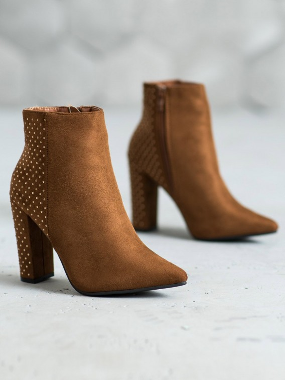 Semišové topánky so zirkónmi