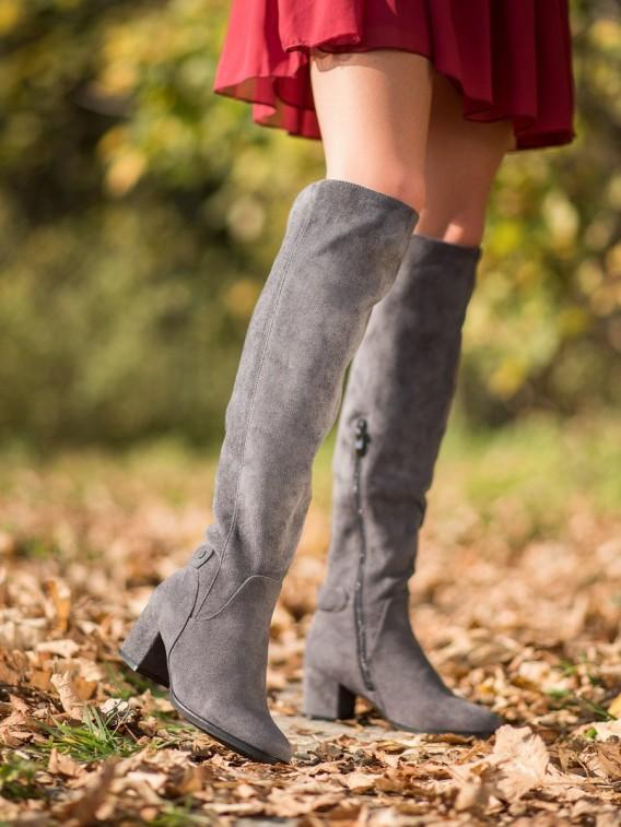 Zateplené čižmy nad kolená