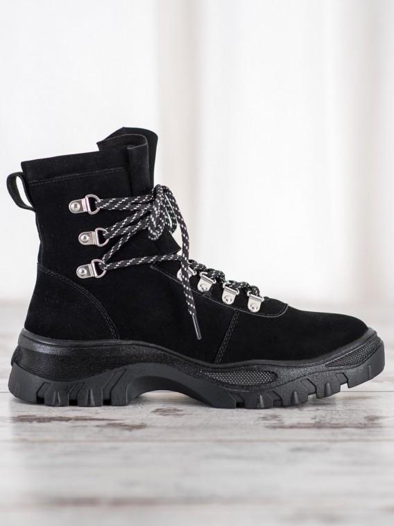 Módne šnurovacie topánky Sergio Leone